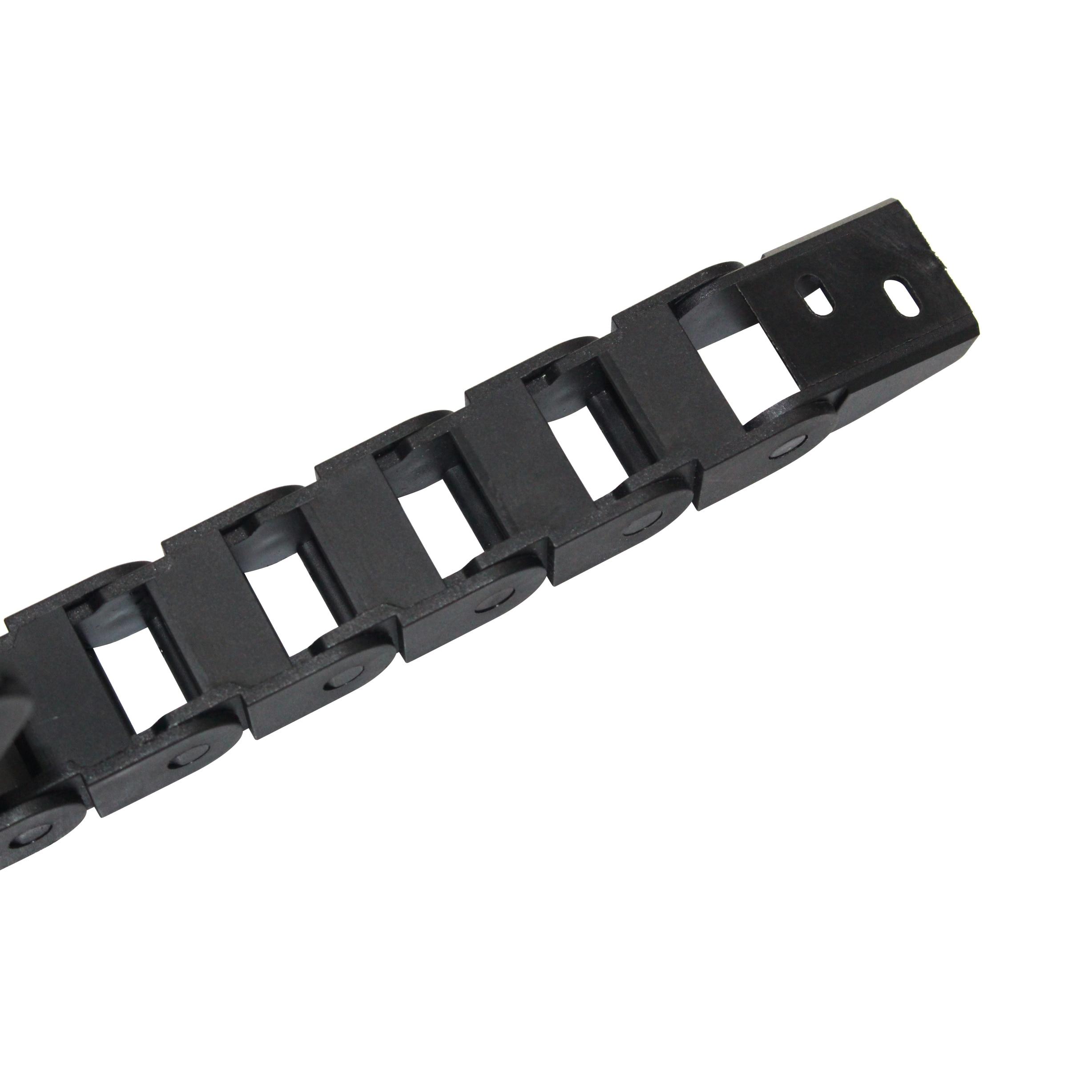 1 метр пластиковая Трансмиссия Тяговая цепь для машины кабель Тяговая цепь проволочный носитель с концевыми соединителями для станка с ЧПУ