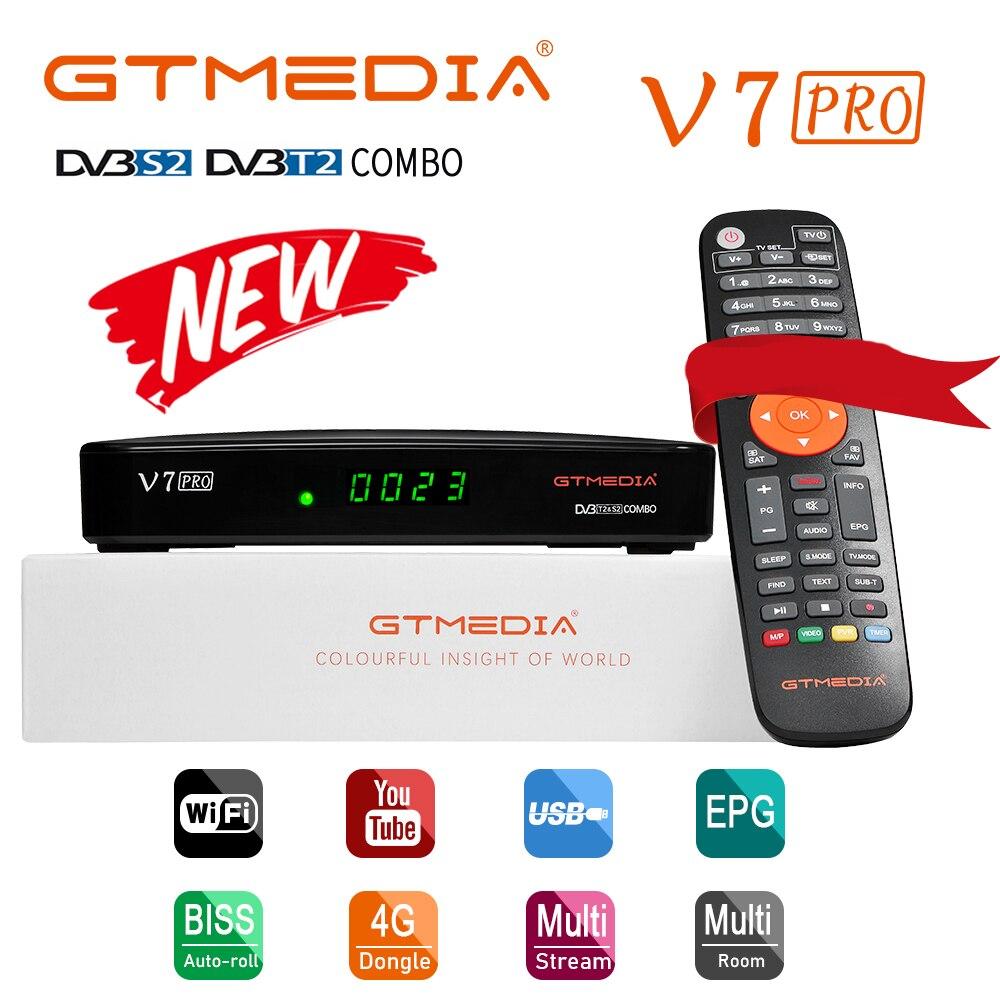 Испания GTMEDIA V7 PRO спутниковый ТВ приемник DVB-S/S2/S2X + T/T2 Поддержка VCM/ACM/мульти поток/T2MI YouTube с CA и отделением для карт