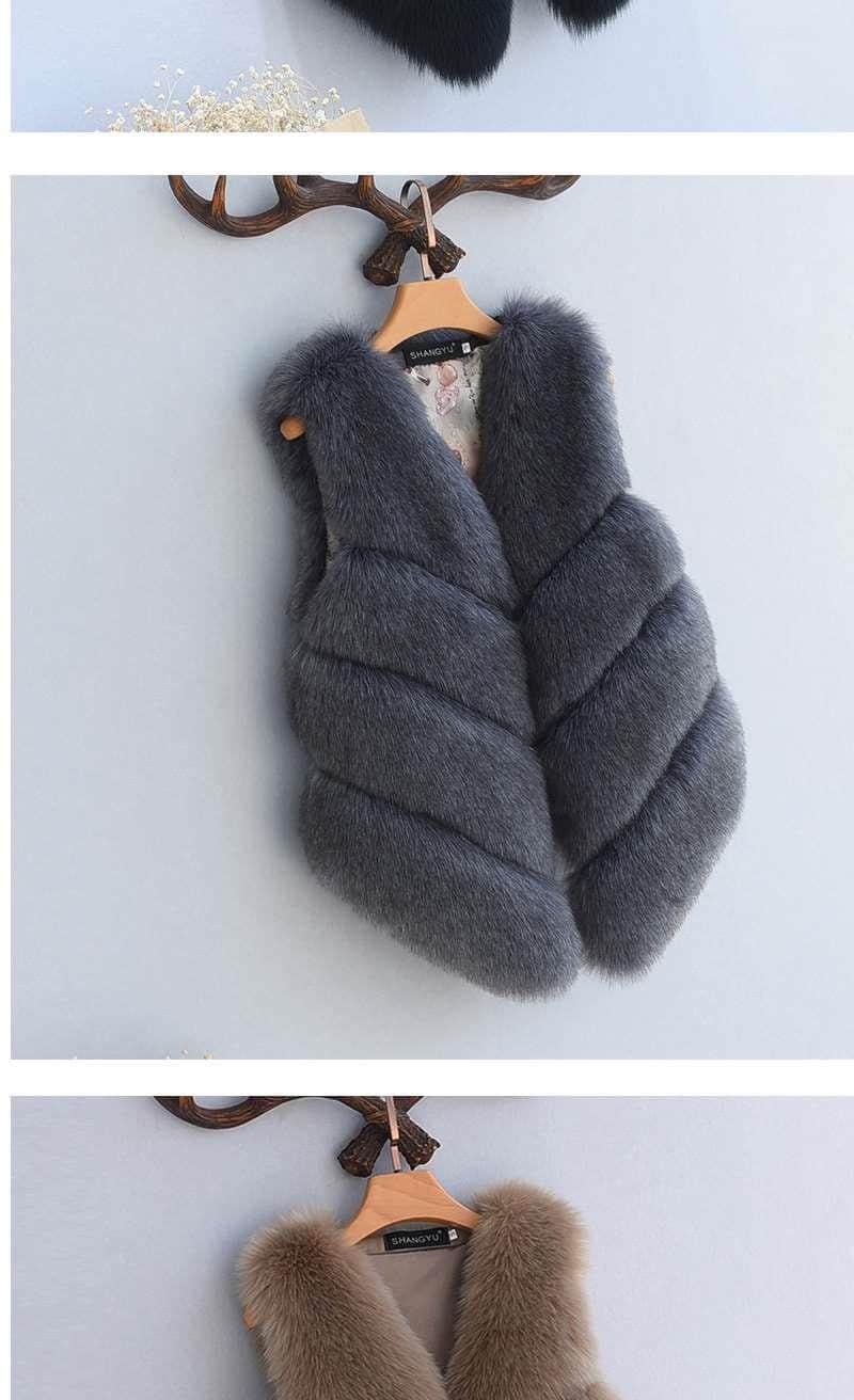 Women's Fox Fur Waistcoat 13