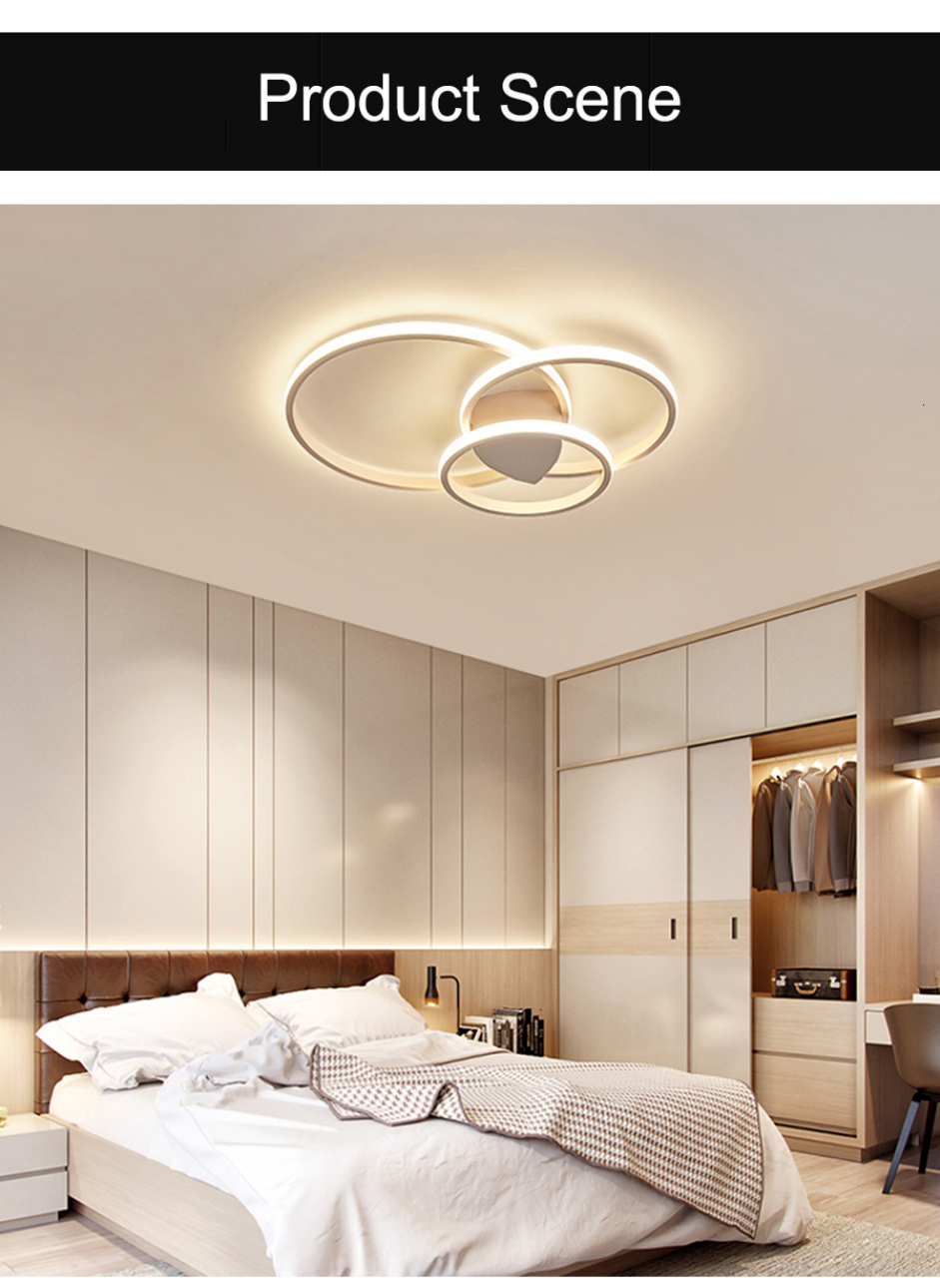 H6143f4601f9d4ef19bdc6c8f03d274bcT Led Ceiling lamp For Living Room Bedroom Study Room Home Deco AC85-265V Modern White/Coffee surface mounted Ceiling Lamp