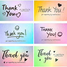 50pcs Laser Blank Thank You Cards for All Occasion Baby Shower Wedding, 5*9cm Small Business Owners Cards Customer Appreciation