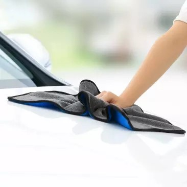 Nanofiber Cleaning Towel Blue Gray Two-color Car Wash Towel No Water Marks No Lint No Fading