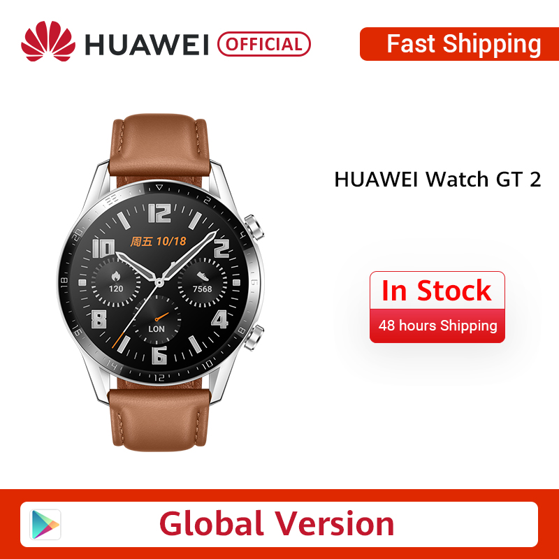 In Stock Original <font><b>HUAWEI</b></font> <font><b>Watch</b></font> <font><b>GT</b></font> <font><b>2</b></font> GT2 GPS 14 Days Working Waterproof Phone Smart Call Heart Rate Tracker For Android iOS image