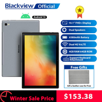 Blackview Tab 8 10.1 inch Android 10.0 Google Play 4G Phone Call Tablets 4GB RAM 64GB ROM 13.0MP Rear Camera 6580mAh Tablet PC