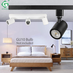 Industrial GU10 Track Light Phase Adjustable Ceiling Clothes Store Living Room Wireless Spot LED Rail Lighting Shop Museum