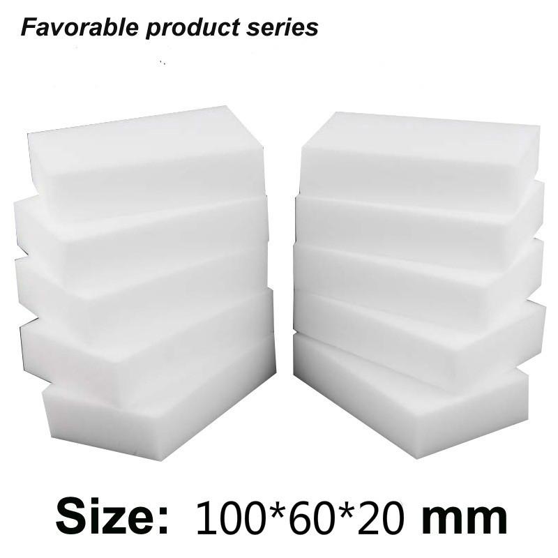 50 pcs 10*6*2 cm White Kitchen Sponge high density dish washing melamine magic cleaning dishes clean melamine sponge eraser pad