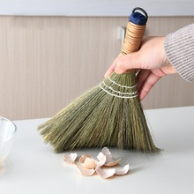 1 шт. растение ручной работы метла ручная архаизация метлы деревянный пол подметальная метла мягкий мех волосы бытовые инструменты для чистки пола