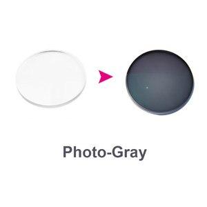 Image 2 - Lentille photochromique Anti lumière bleue pour hommes et femmes, lentille optique Anti lumière, Prescription, lentille de Correction de Vision pour appareils numériques gris lumière 1.61