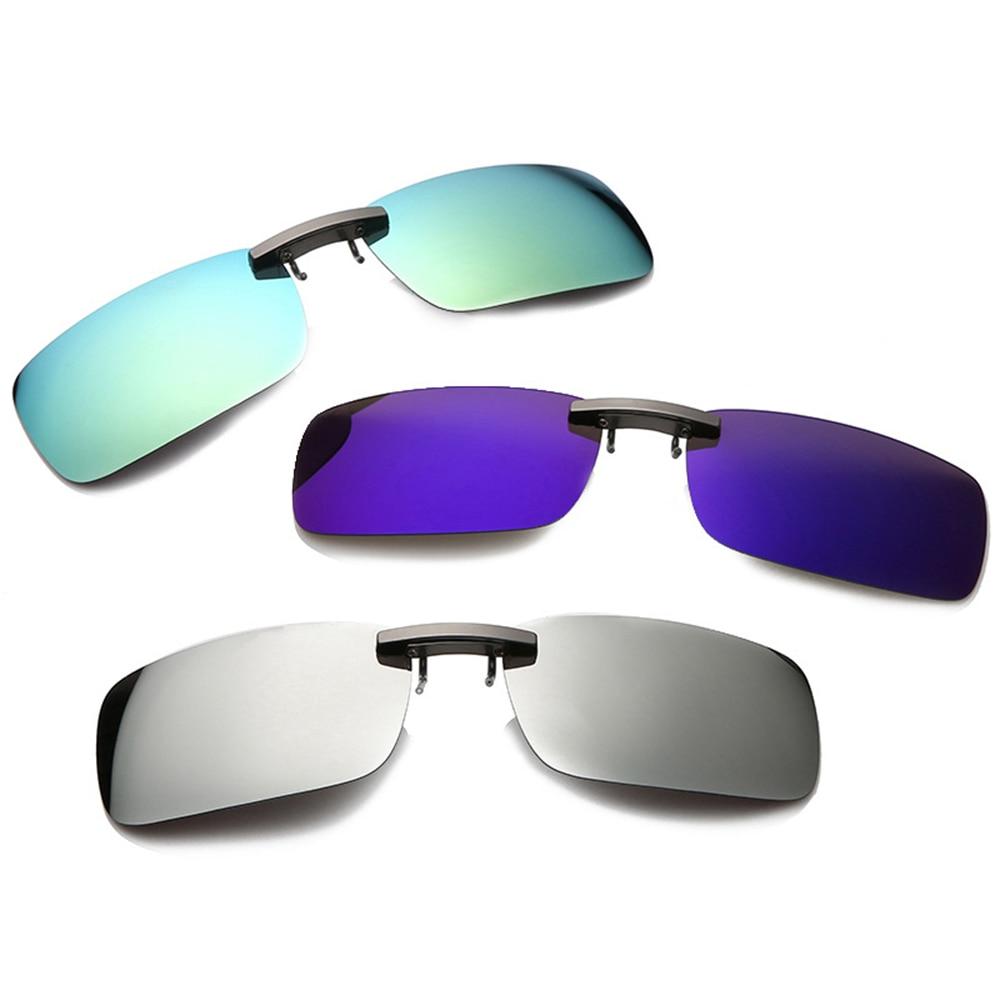 Detachable TAC Lens Driving Metal Polarized Clip On UV400 Sunglasses Car Driver Goggles Night Vision Glasses