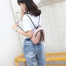 2019 New lady small backpack women leather Shoulder Bag MultiFunction mini backpacks female School bagpack bag for teenage grils