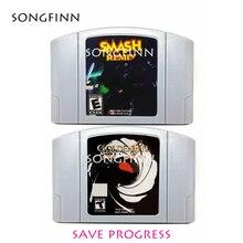 2020 yeni varış İngilizce dil Smash Remix Goldeneye ile Mar karakter abd NTSC sürümü için 64Bit oyun kartuşu