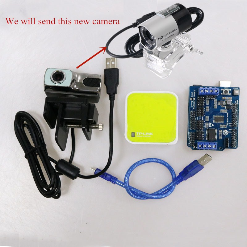 Video Controller Kit for Robot Arm Tank/Car Chassis Remote Control Kit by ESPduino with openwrt Router Camera Pakistan