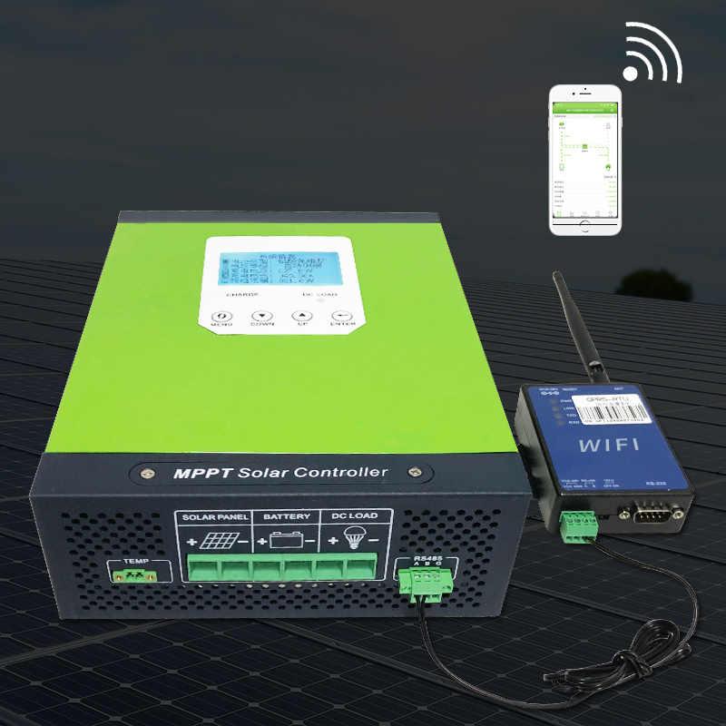 MPPT Cargador Solar Controlador 12 V 24 V 36 V 48 VAuto Acido Plomo Gel de ion de litio Controlador de Carga para Max 150 V Entrada de Panel Solar 40A