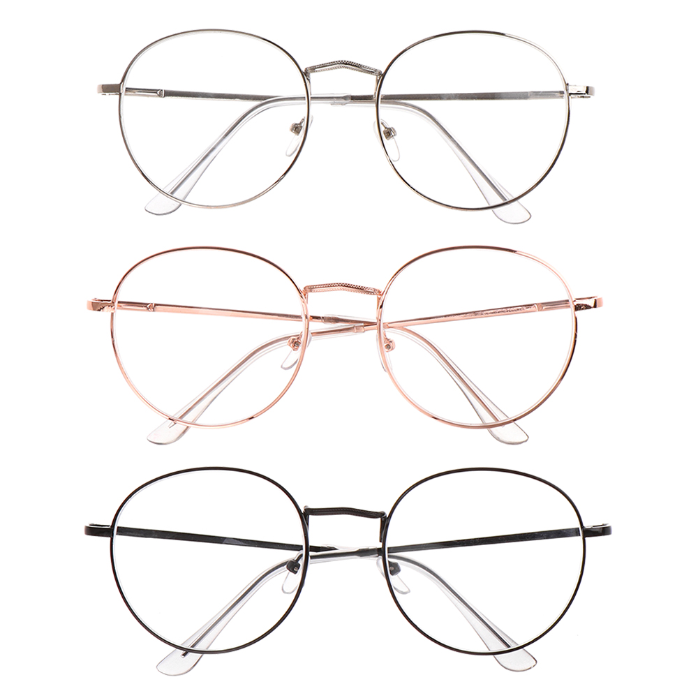 Unisex Metal Round Myopia Glasses Ultra Light Reading Eyeglasses Women Men Nearsight Eyewear Vision Care Diopter -1~-4  Hot Sale