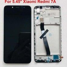 ЖК дисплей с рамкой и дигитайзером сенсорного экрана для Xiaomi Redmi 7A/MZB7995IN, экран с рамкой и дигитайзером для Xiaomi Redmi 7A, 5,45 дюйма, оригинал