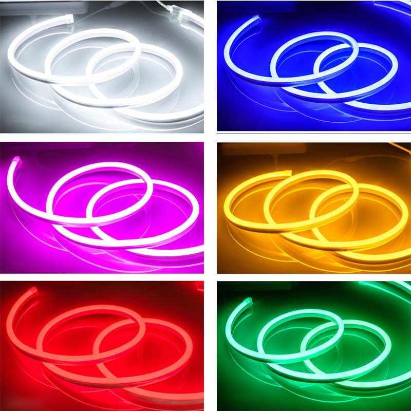 12V LED Neon ışık şeridi Esnek Açık Noel Peri LED Şerit dekor Tube1m 2m 3m 4m 5m Dize su geçirmez Lamba mutfak