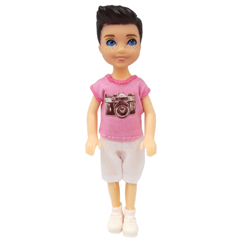 NK 1 Set Boy's Doll 5 Movable Jointed Mini Doll 14 Cm Cute Doll + Shoes+Outfit For Kelly Male Doll Girls Gift Baby Toys 10A 1X