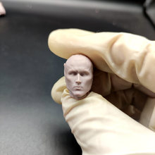 Em branco 1/12 escala robocop alex murphy cabeça esculpir sem pintura caber 6