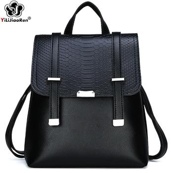 Fashion Alligator Backpack High Quality Leather Backpack Women Travel Shoulder Bag Large Capacity School Bags for Teenage Girls