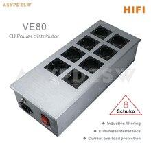 Viborg VE80 HIFI EU power distributor 8 Schuko power purification filter socket