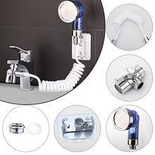 Destacável cabeça de extensão do chuveiro da pia conjunto ajustável conexão rápida torneira mão extensor chuveiro para lavagem casa banho