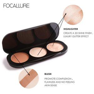 Image 4 - Focallure 新 arrivel 3 色赤面 & パレットフェイスマット蛍光粉末イルミネーション赤面粉末