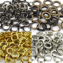 100sets 10mm Brass Eyelet with Washer 800# Leather Craft Repair Grommet Round Eye Rings For Shoes Bag Clothing Leather Belt Hat