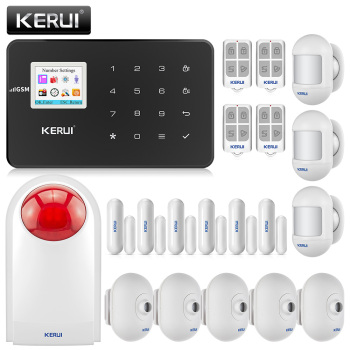 KERUI G18 home alarm wireless GSM security alarm system with motion detector indoor and outdoor camera anti-theft alarm system 1
