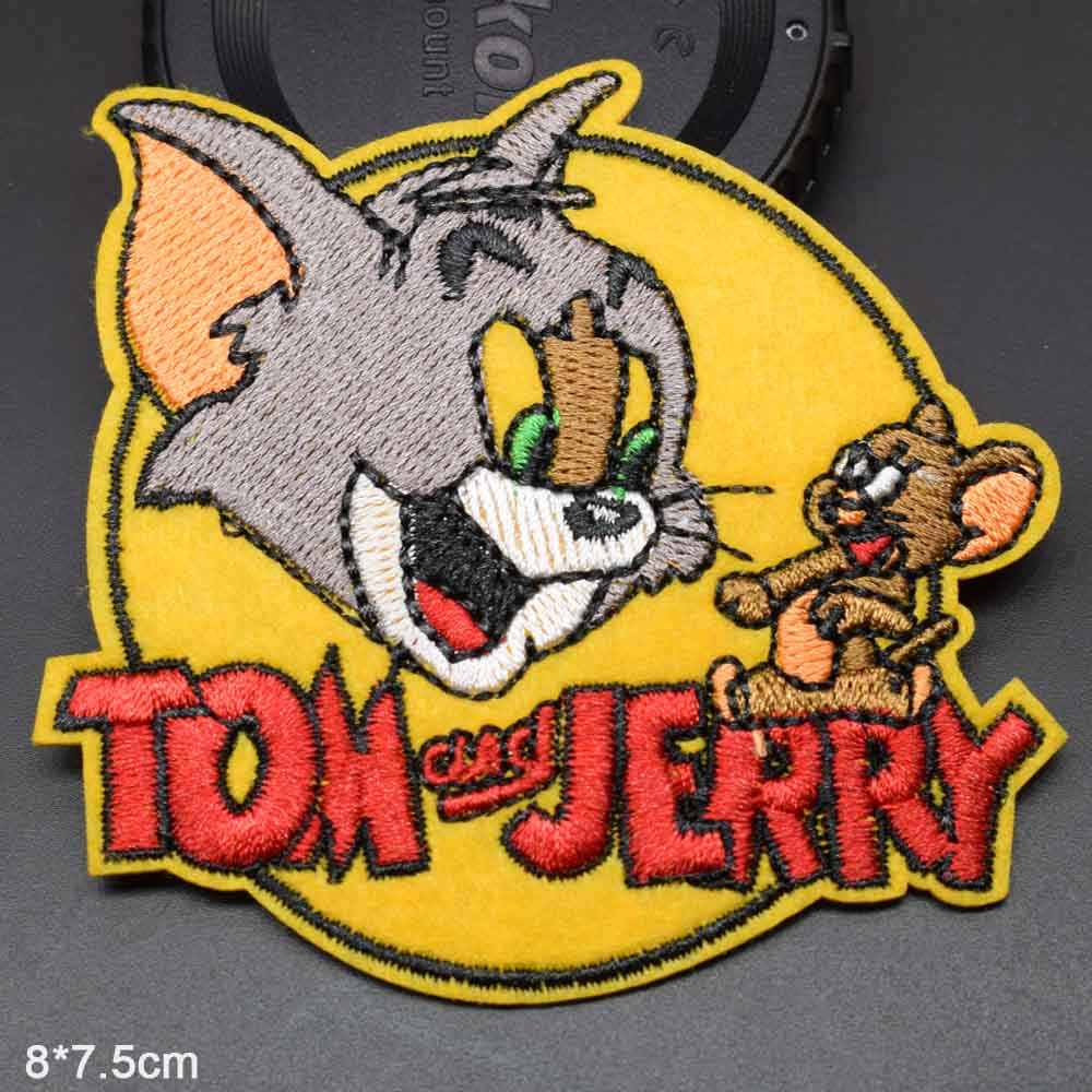 Cat Mouse Scooby-Doo Dog Iron On Embroidered Clothes Patches For Clothing Wholesale