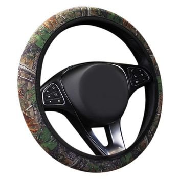 Hot Non-slip Camouflage Car Steering Wheel Cover The Wheel Covers Handle Set Auto Protector Universal Auto Interior Accessories image