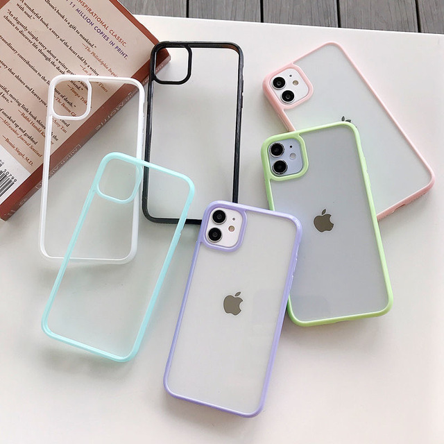 Funda For iphone 12 pro Case Luxury Clear Candy Phone Bumper Coque For iphone 11 Case For Women Men X XS Max XR 6 8 7 Plus Cover 3