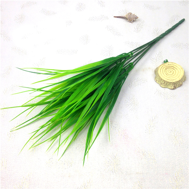 2020 Hot Green Grass Artificial Flowers Plants Plastic Flowers Household Decoration Party Home Room Decor Christmas Decorations
