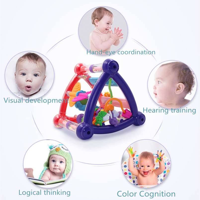 Baby Toys 0-12 Months Hand Shake Bell Ball Rattles Mobile Toy Baby Newborn Infant Intelligence Grasping Educational Toys