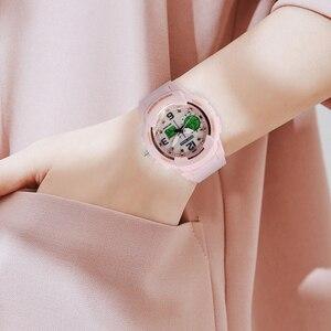 Image 5 - נשים שעון דיגיטלי LED אלקטרוני קוורץ נשים שעוני יד אופנה צמיד שעונים עמיד למים של הילדה מתנות Relogio Feminino