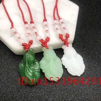 Men Charm Carved Gifts Jade Goldfish Natural Amulet Hand Green Jewelry Chinese Necklace Women for Fashion White Jadeite Pendant image