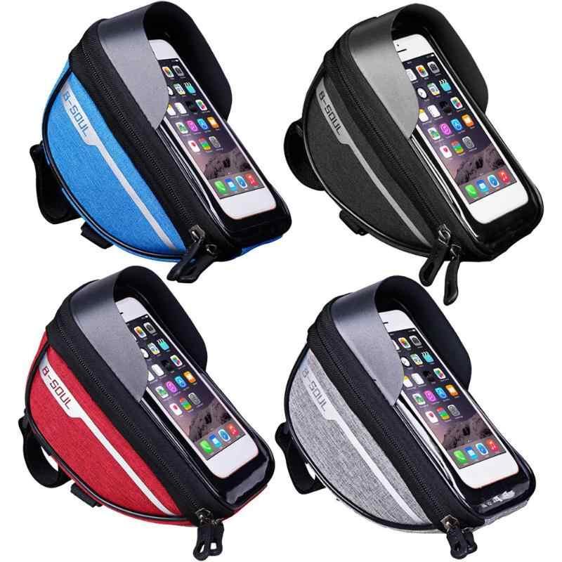 Waterproof Mountain Cycling Bike Bag Touchscreen Cell Phone Stand Pannier