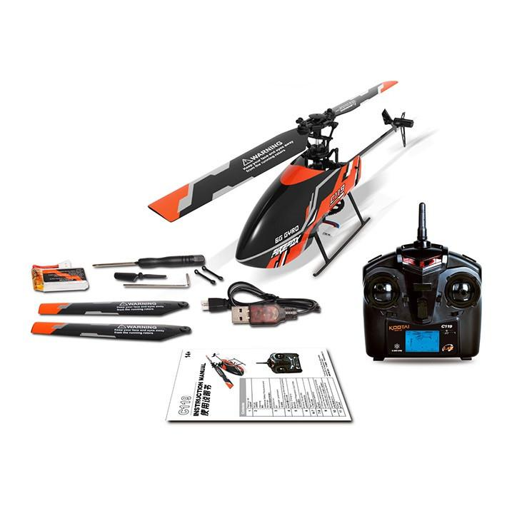 C119 4CH 6 Axis Gyro Flybarless RC Helicopter With Liquid Crystal Remote Controller RTF 2.4GHz VS WLtoys V911S Upgrade Edition