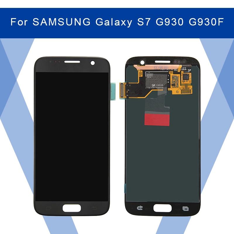 Pour SAMSUNG Galaxy S7 G930 G930F LCD AMOLED écran d'affichage + écran tactile numériseur assemblée pour SAMSUNG affichage Original