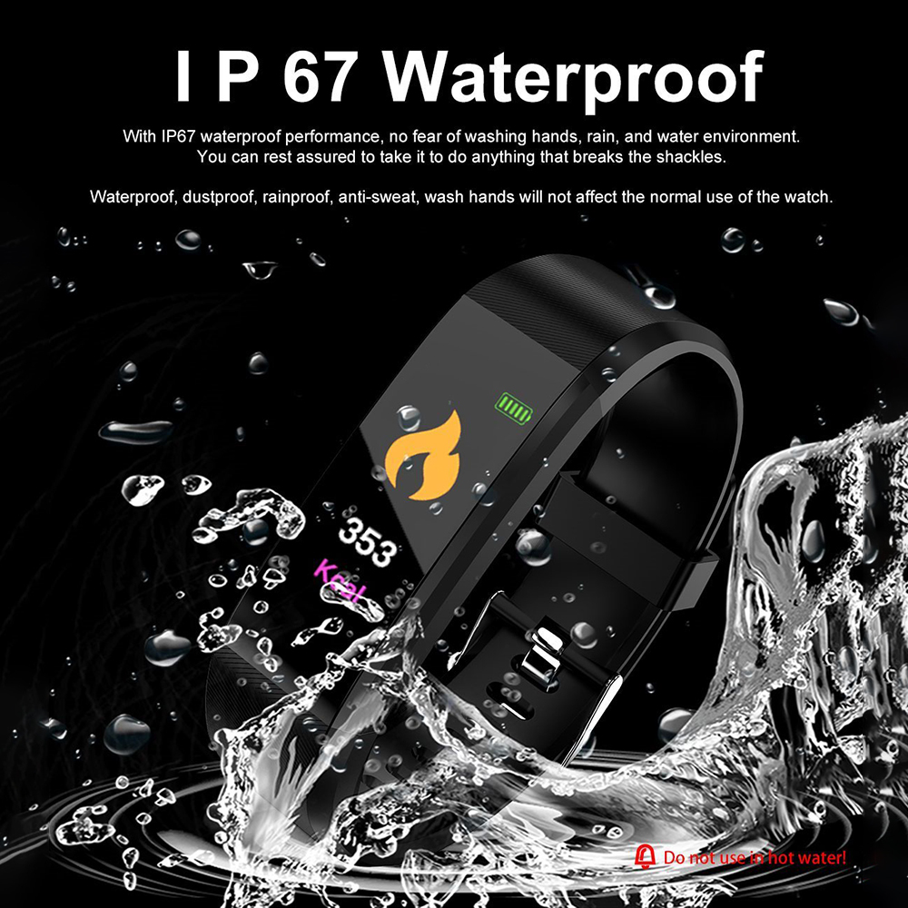 H61468659fb364d64917fdbf9708cca89g VIKEFON Smart Bracelet id115 plus Color Screen Sport Pedometer Watch Smartband Fitness Traker Bluetooth Waterproof Smart Band