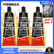 VISBELLA 85g RTV Silicone Industrial Strong Adhesive High Temperature Sealant Silicone Rubber Gasket Maker Electric Repair Glue
