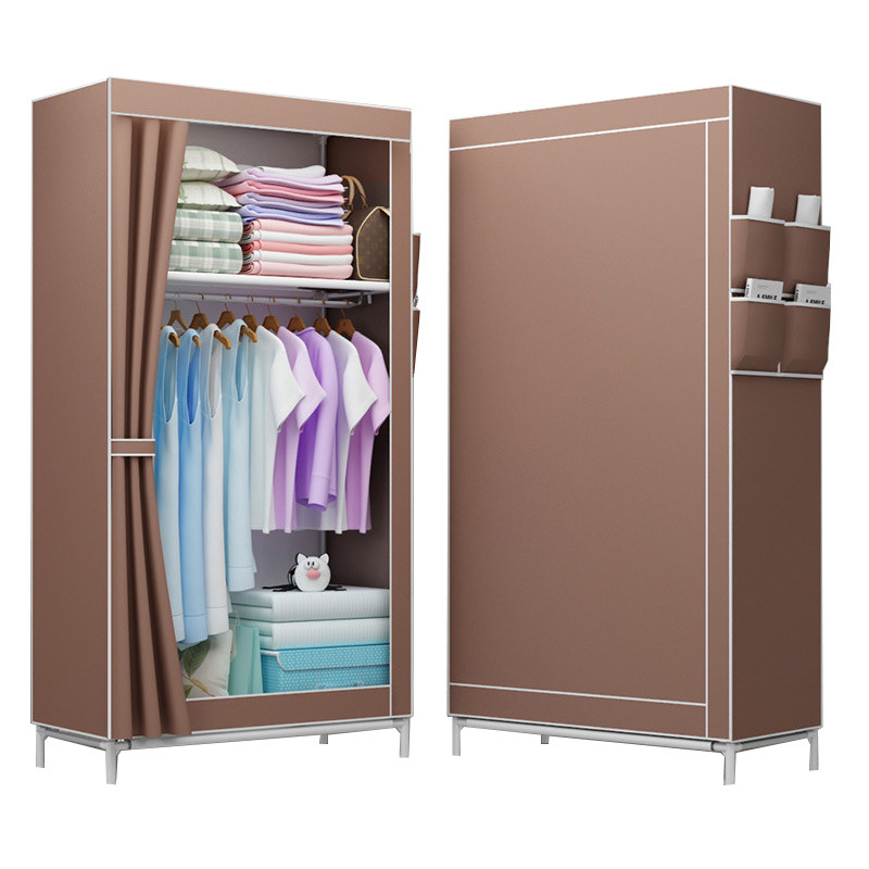 3D Pattern Closet Non-woven Fabric Folding Wardrobe Garment Cloth Storage Lightweight Portable Bedroom Storage Home Furniture