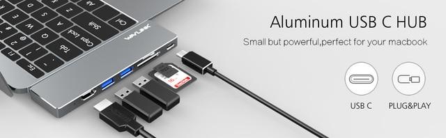 Wavlink usb хаб c концентратор для нескольких 30 hdmi адаптер