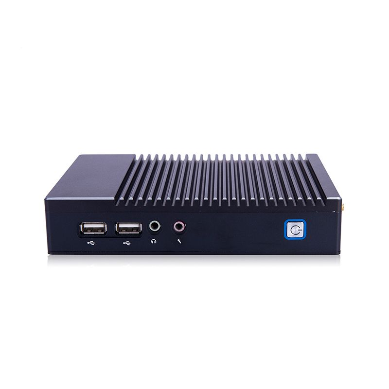 Fanless Mini PC Server Dual RJ45 LAN Vesa Mount Host PC 12V Mini Computer For Business