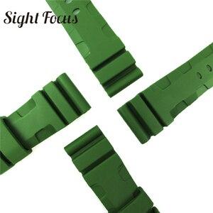 Image 4 - 24 Millimetri 26 Millimetri Army Green Illuminazione Cinturino di Ricambio per Panerai Radiomir Sommergibili Sport Cinturino in Gomma Bracciali Cintura Militare