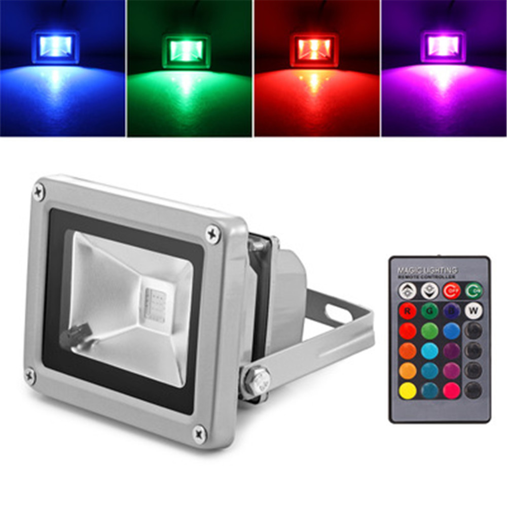100W RGB LED Flood Light Spotlight Color Changing Outdoor Garden Lamp IP65 6500K