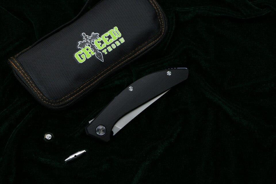Зеленый шип SIGMA mrbs D2 лезвие G10 стальная ручка Открытый Отдых Охота Карманный кухонный фруктовый практичный Складной Нож EDC инструменты - 6