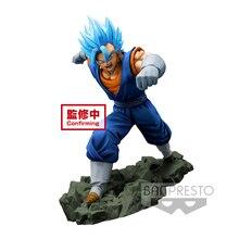 Tronzo original dokkan batalha collab super saiyan azul vegetto ssj pvc figura de ação modelo brinquedos