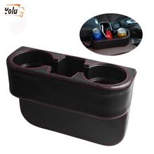 YOLU Storage Box Car Organizer Seat Gap PU Case Pocket Side Slit for Wallet Phone Coins Cigarette Keys Cards