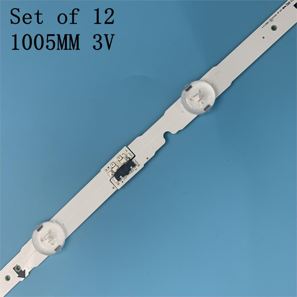 12 PCS/set LED backlight strip for Samsung UE48H6400 UE48J5600 UE48J5600 UE48H5000 UE48H5500 UE48H6200AK D4GE-480DCA 480DCB-R3