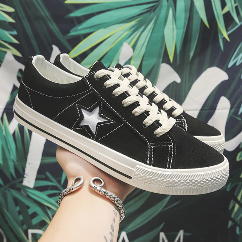 Fashion Women Sneakers 2020 Casual Shoes Female Summer Canvas Shoes Trainers Lace Up Ladies Basket Femme Stars Tenis Feminino